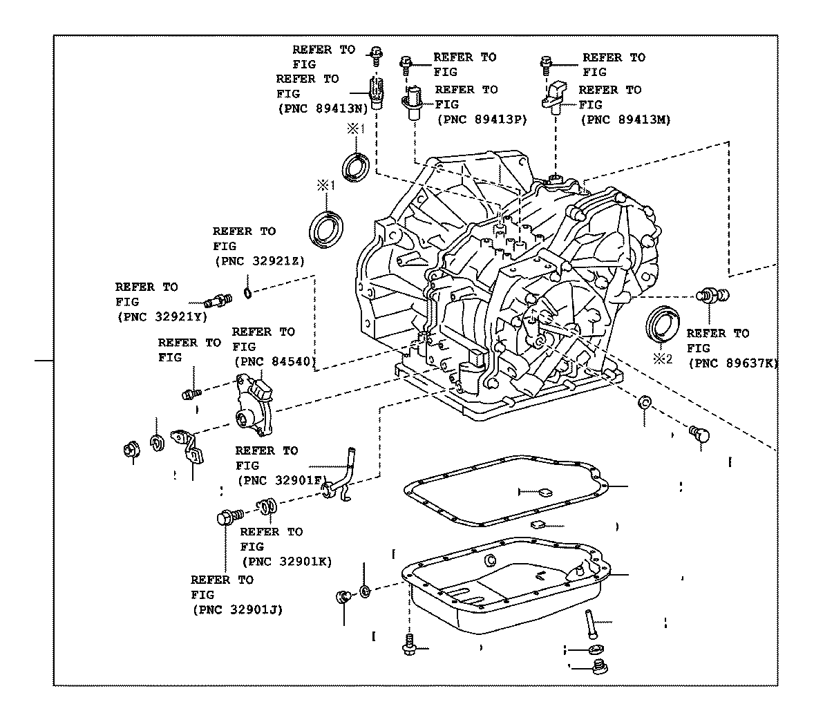 Toyota C Hr Transaxle Assembly Continuously Variable