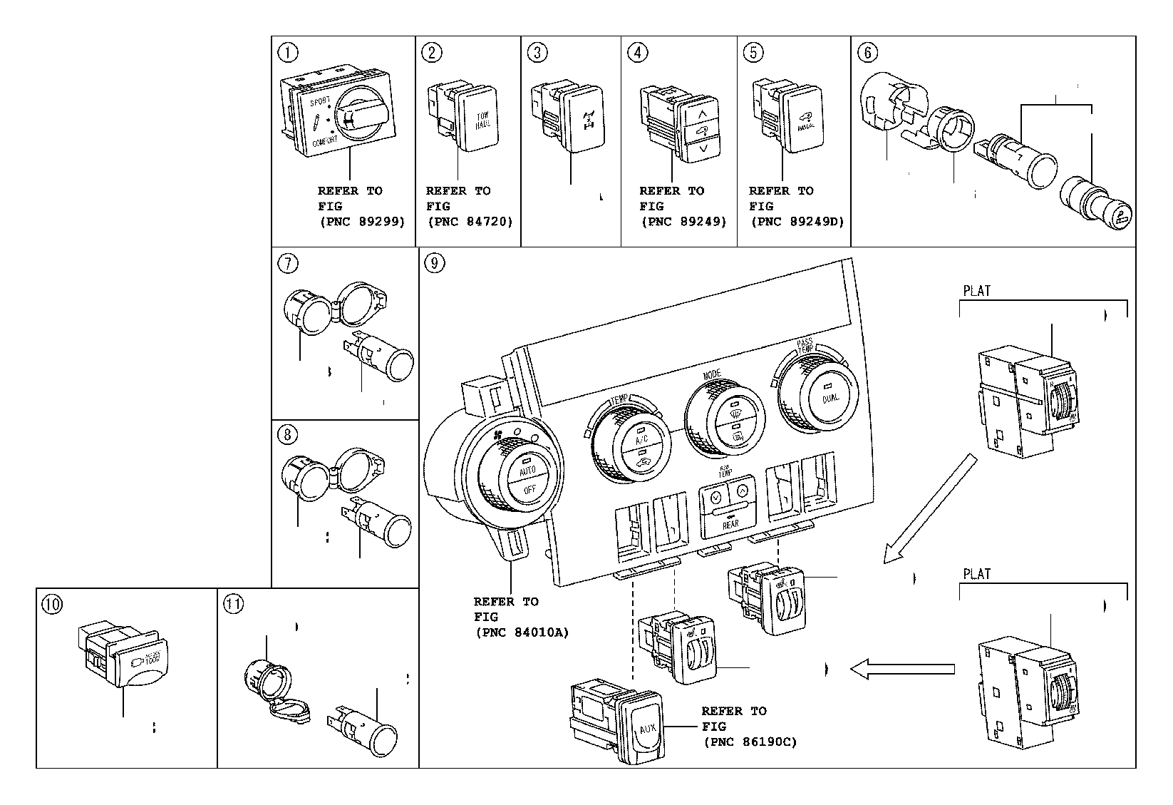 Toyota Sequoia Switch Differential Lock Electrical