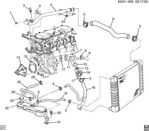 Can't identify part Coolant system, pontiac sunfire 2000