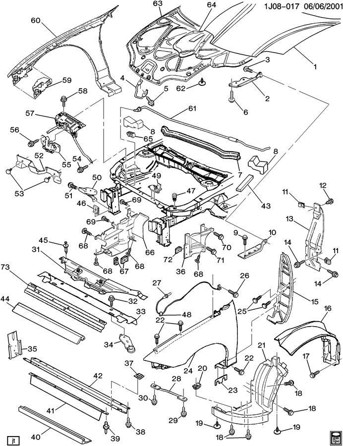 1999 Chevy Cavalier Parts Diagram