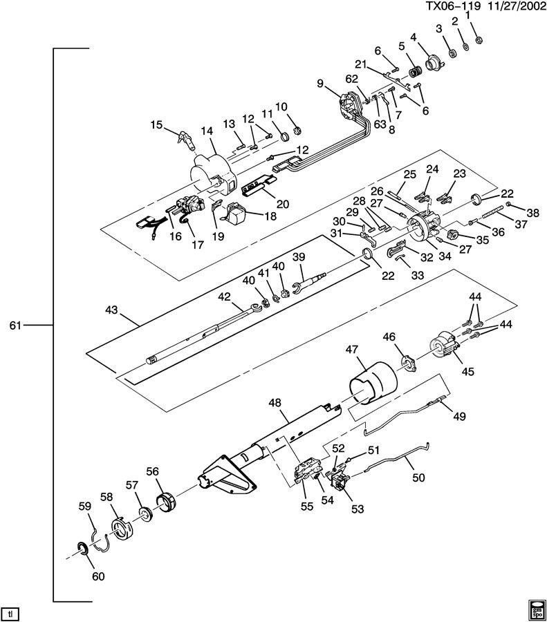 chevy truck steering column diagram 1998 Chevy Steering Column Diagram