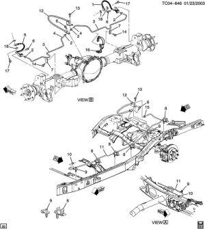 Cadillac brake line