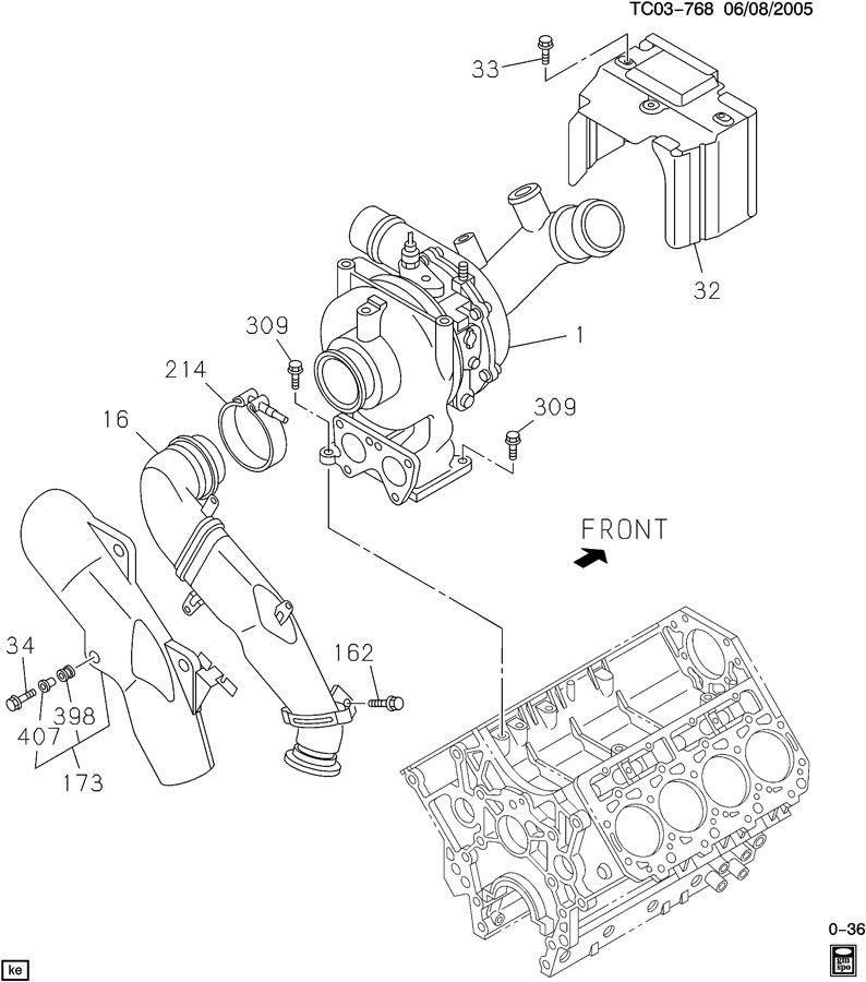 Lb7 Duramax Turbocharger Parts Diagram