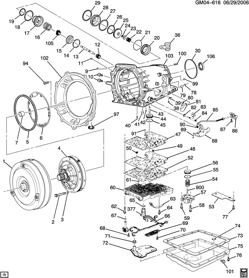 Automatic Transmission 4l60e Illustrated Parts Drawing Supply The
