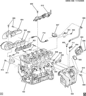 ENGINE ASM24L L4 PART 5 MANIFOLDS & FUEL RELATED PARTS