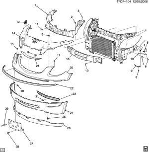 Buick Lacrosse Front Bumper Parts Diagram Buick Auto