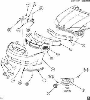 BRACKET BUMPERFASCIA MOUNTINGGENUINE GM PART 22722097