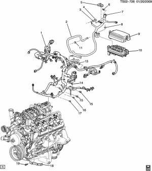 Wiring HarnessEngine (LH853l); (LH953p)  Chevrolet