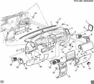 Instrument panel & related parts part 1  Chevrolet