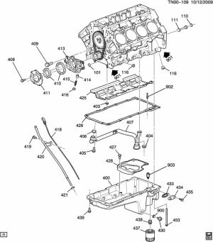 ENGINE ASM53L V8 PART 4 OIL PUMP, PAN & RELATED PARTS