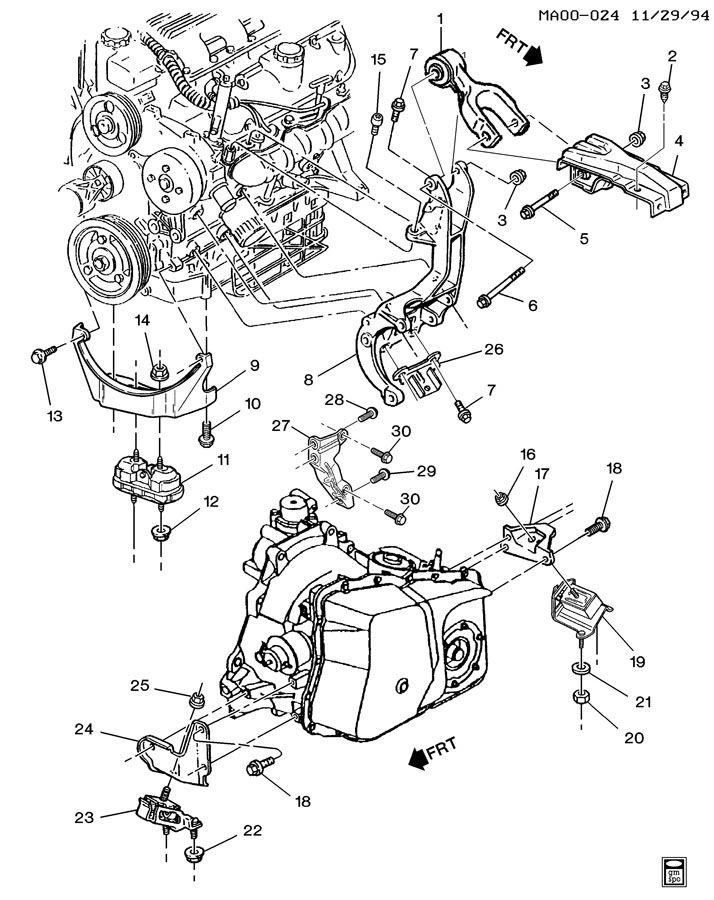 Diagram Mount 3 Engine Gm 1 Liter