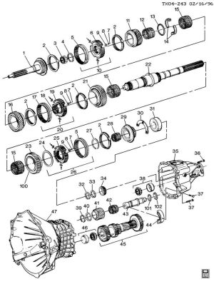 Chevy 5 Speed Transmission Diagram  Best Place to Find