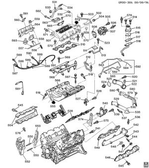 ENGINE ASM31L V6 PART 5 MANIFOLDS & FUEL RELATED PARTS