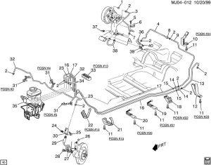2006 Buick Rendezvous Brake Line Diagram | PulseCode