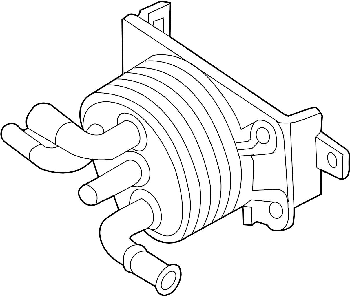 Nissan Armada Automatic Transmission Oil Cooler Lwb
