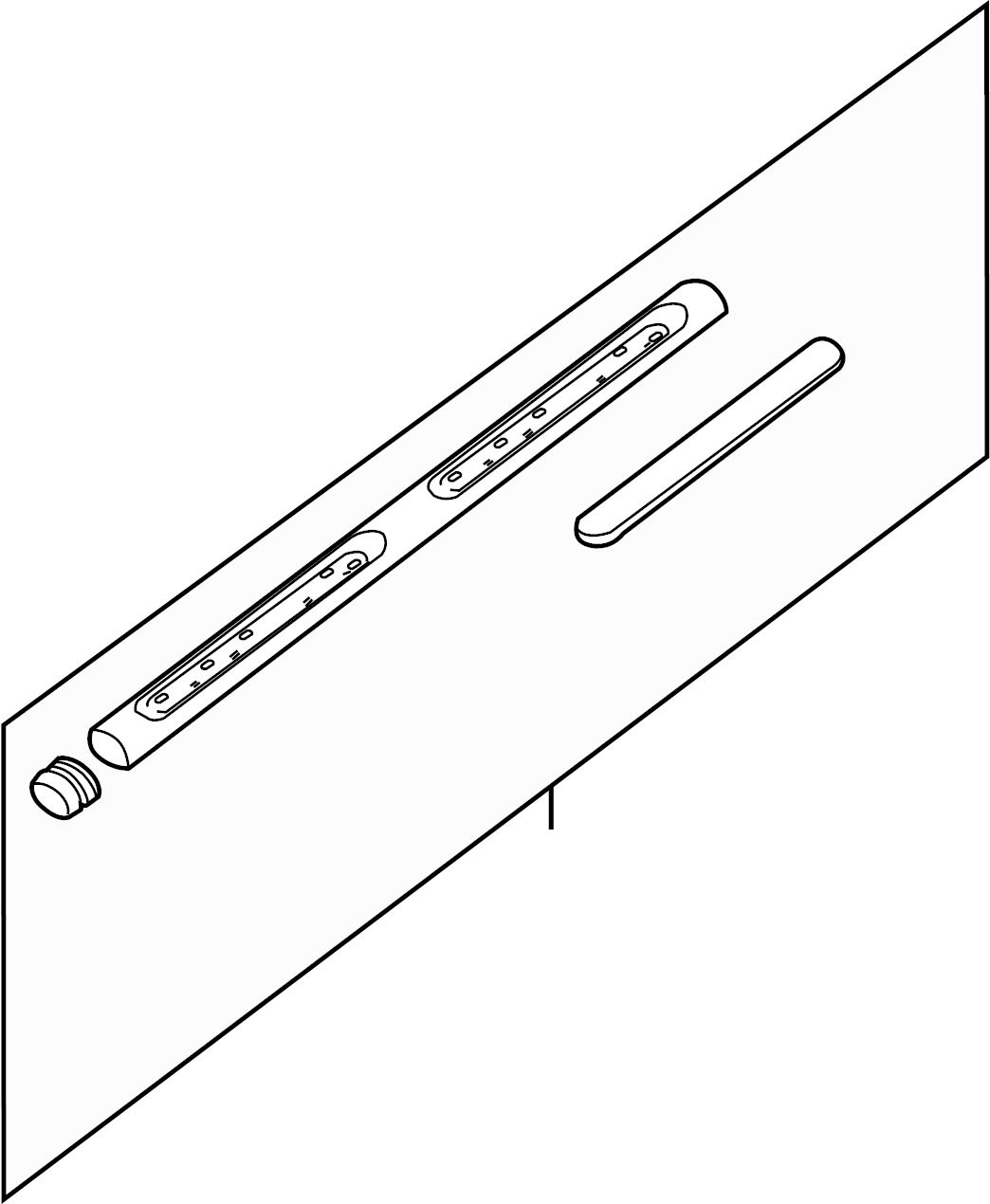 Nissan Frontier Running Board Left Front Side Body