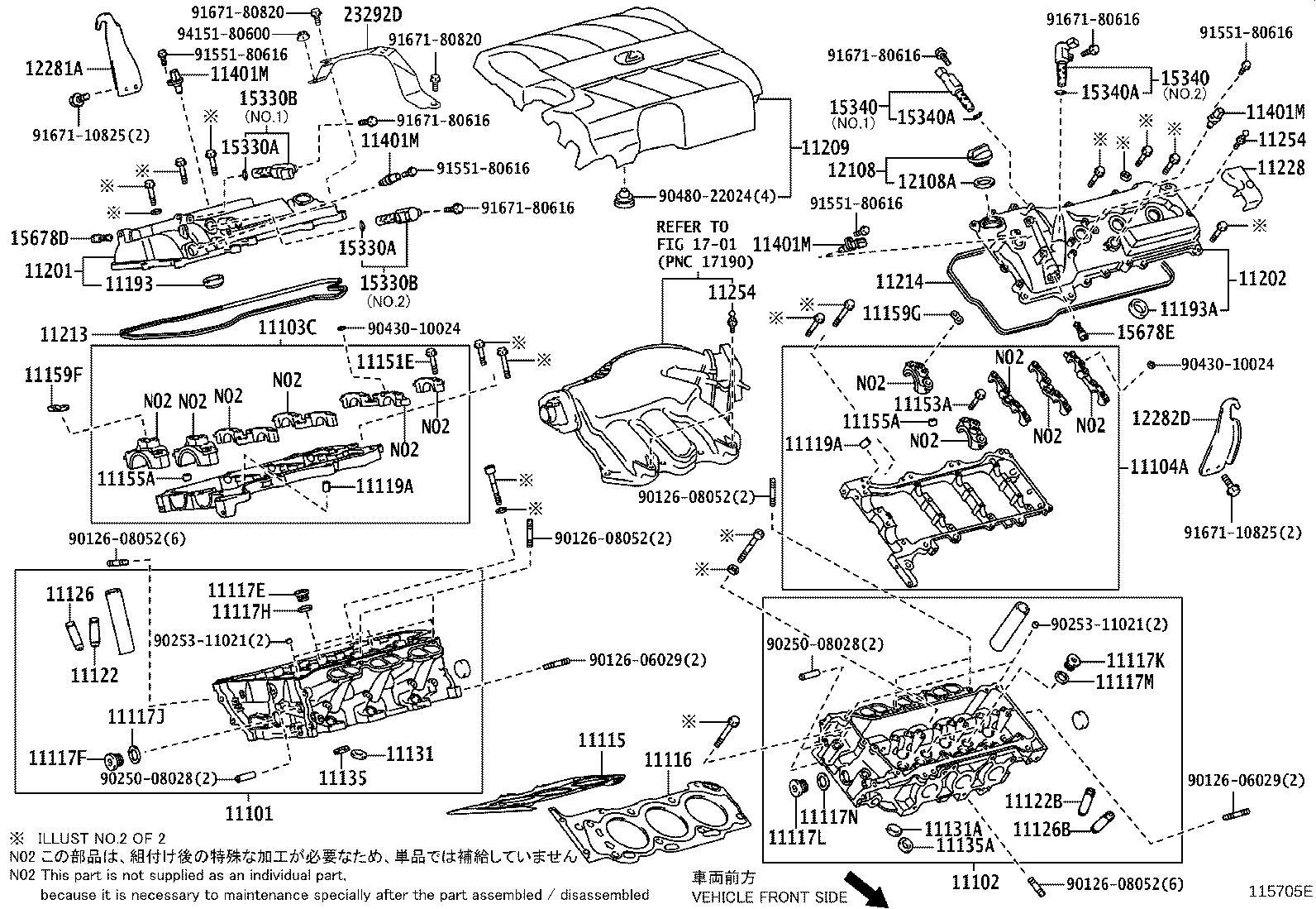 Lexus Rx 350 Hanger Engine No 2