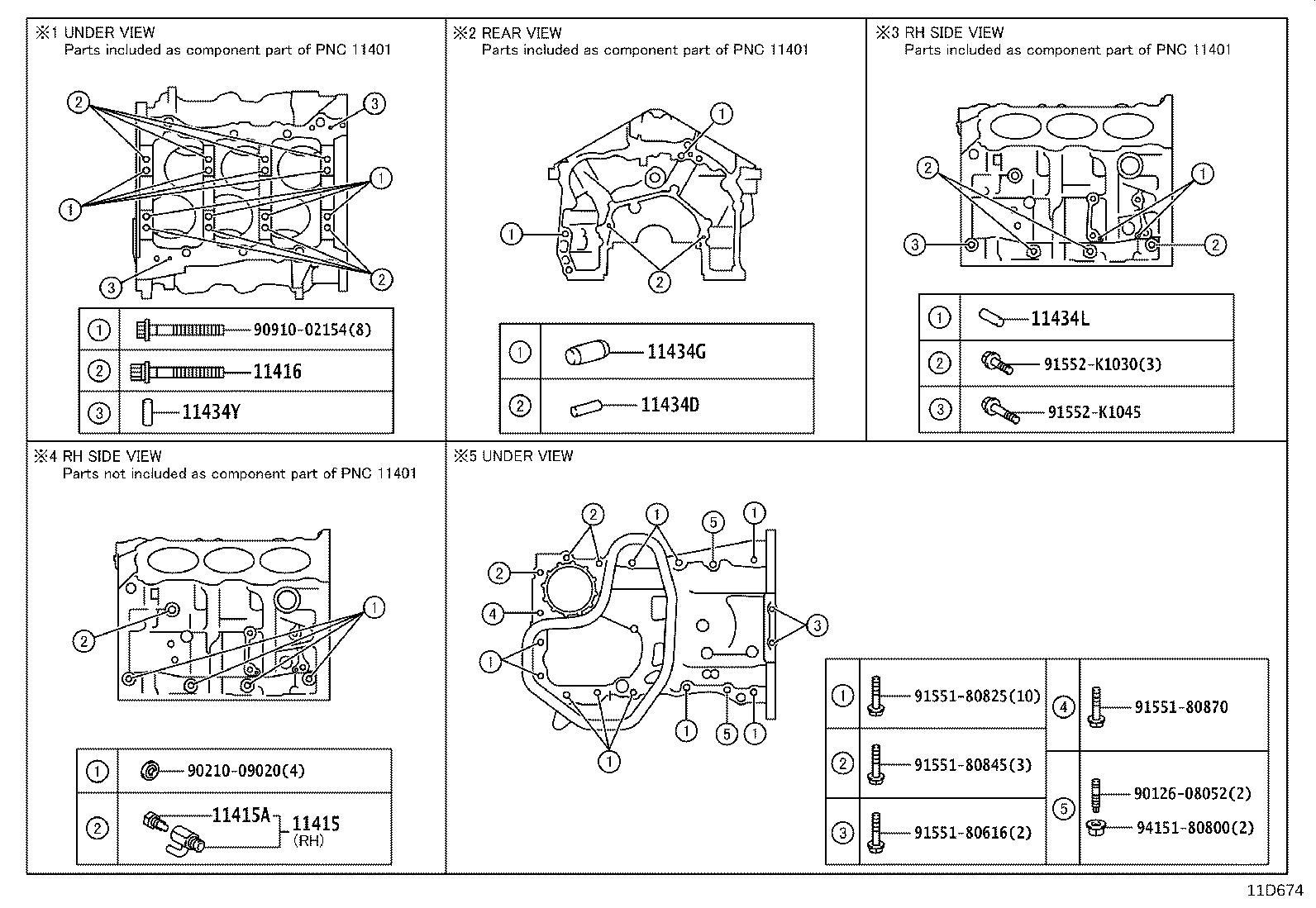 Lexus Es 350 O Ring O Ring Cam Position Sensor Crank