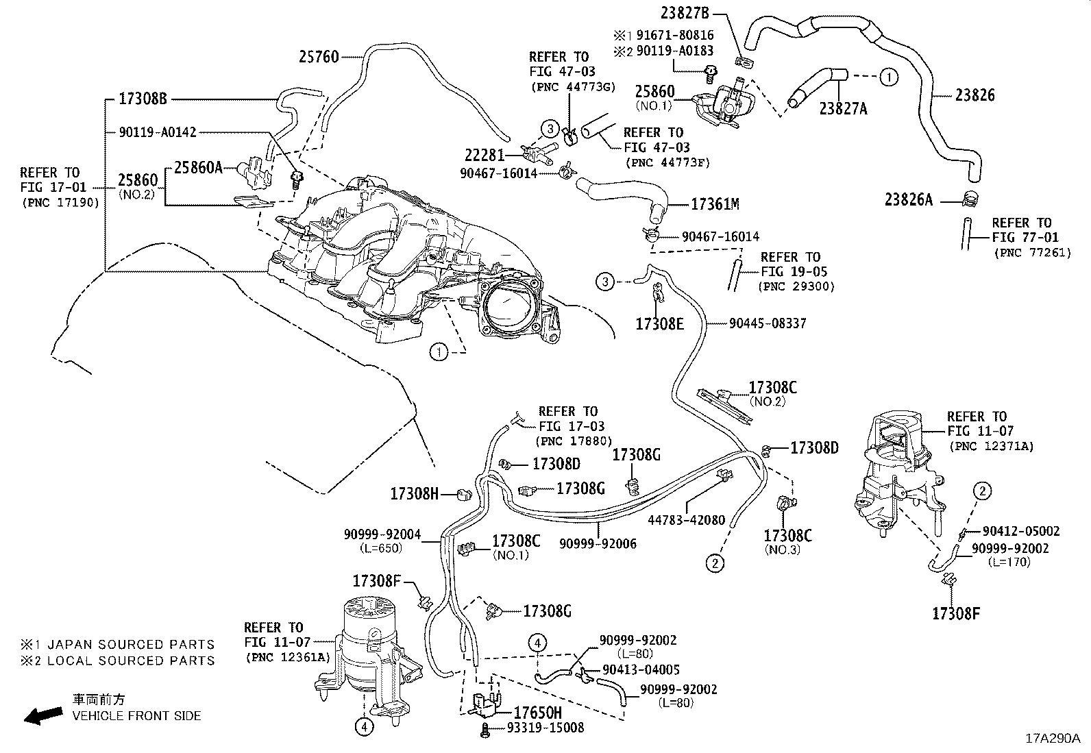 Lexus Es 300h Evaporative Emissions System Lines Hose