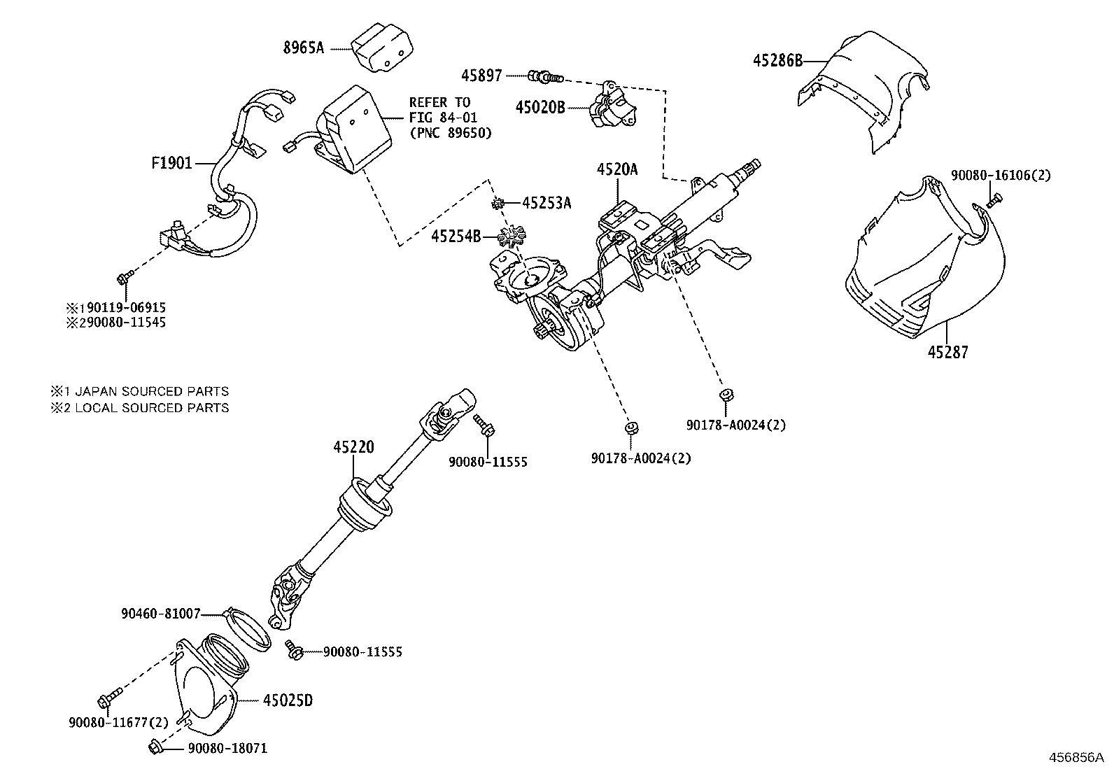 Lexus Es 350 Shaft Assembly Steering Intermediate Tilt