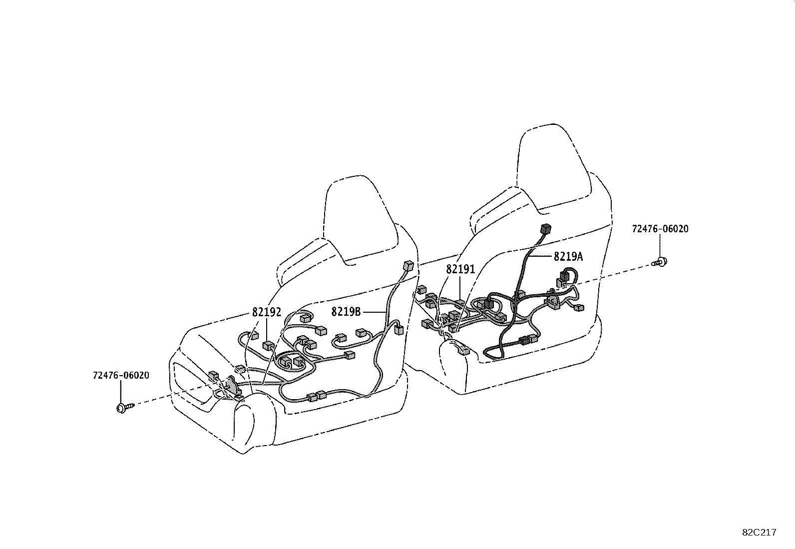 Lexus Es 300h Door Wiring Harness Right Front