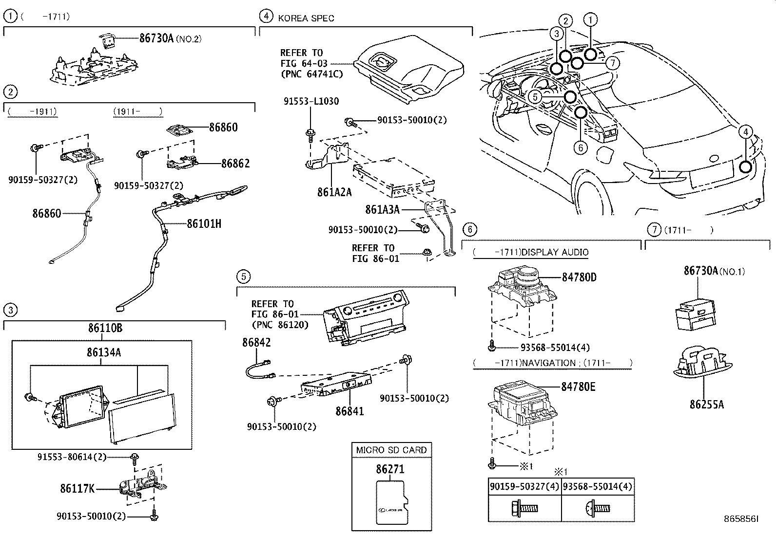 Lexus Rc 200t Gps Navigation Control Module Computer