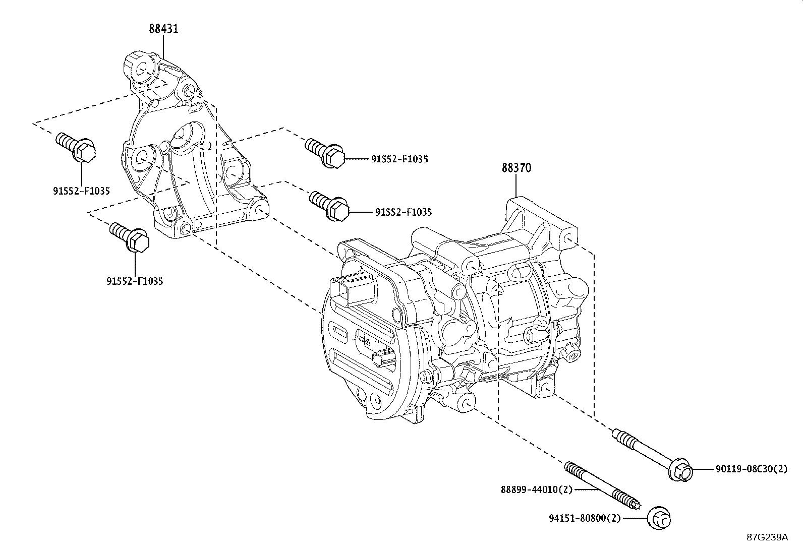 Lexus Lc 500 Compressor Assembly With Pulley
