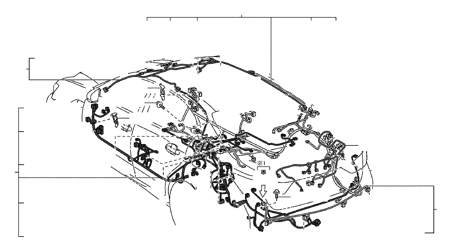 Lexus Is 250 Connector Wiring Harness Engine Room