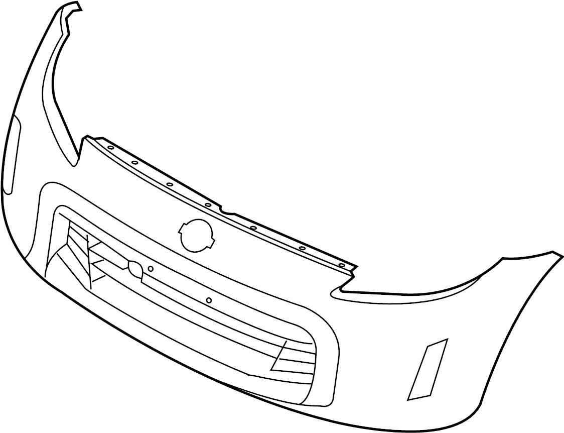 Nissan 370z Bumper Cover Front Paint Standard Version
