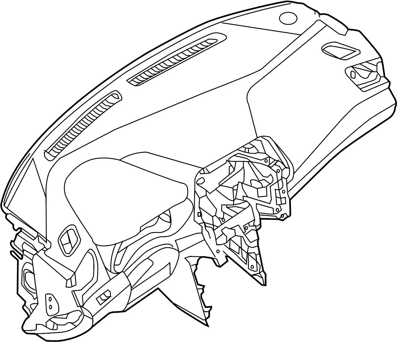 Nissan Maxima Dashboard Panel Pad Instrument Ass