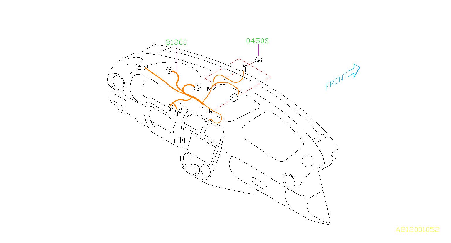 Subaru Harness Instrument Panel Wiring