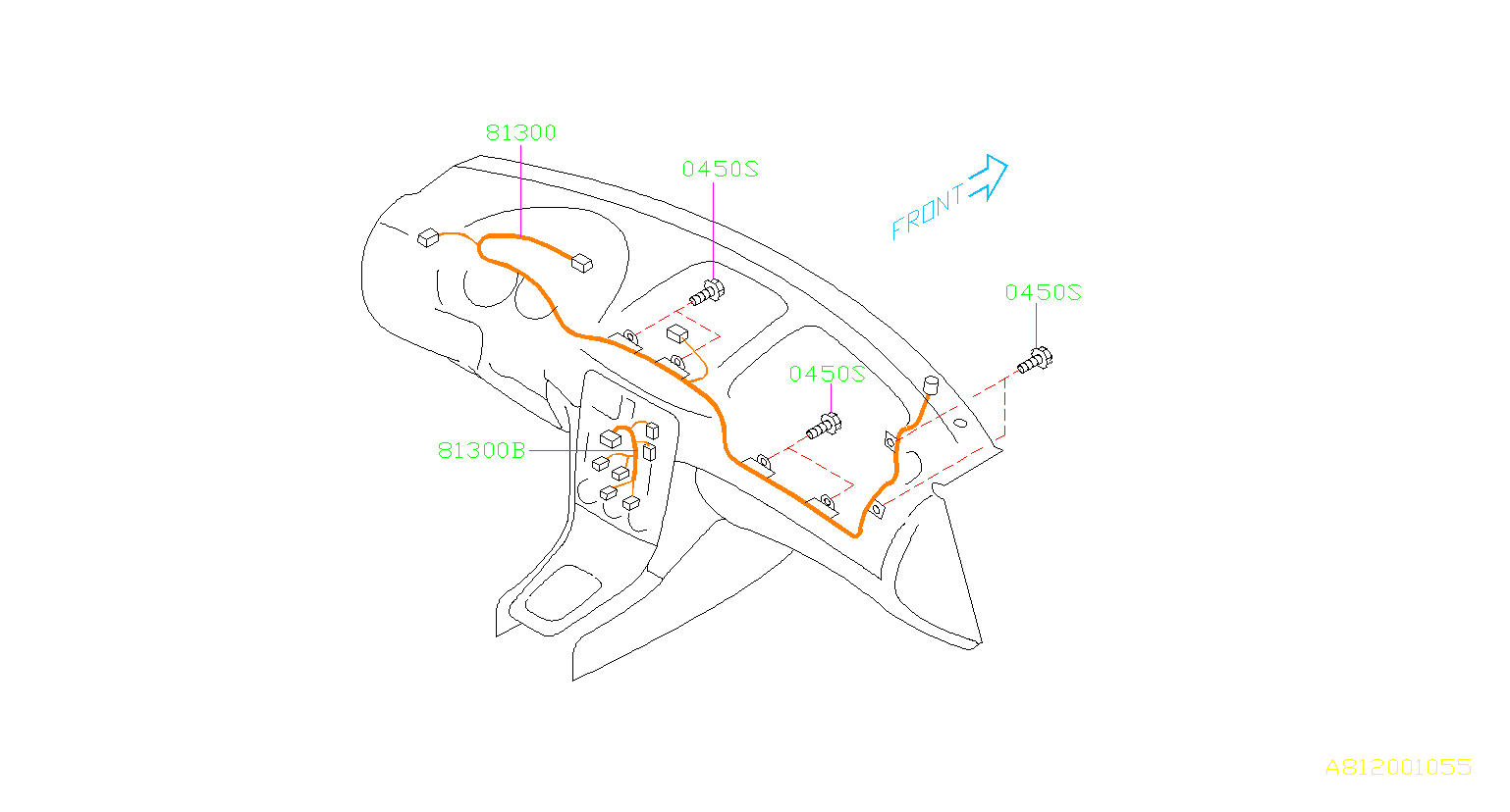 Subaru Harness Instrument Panel Wiring
