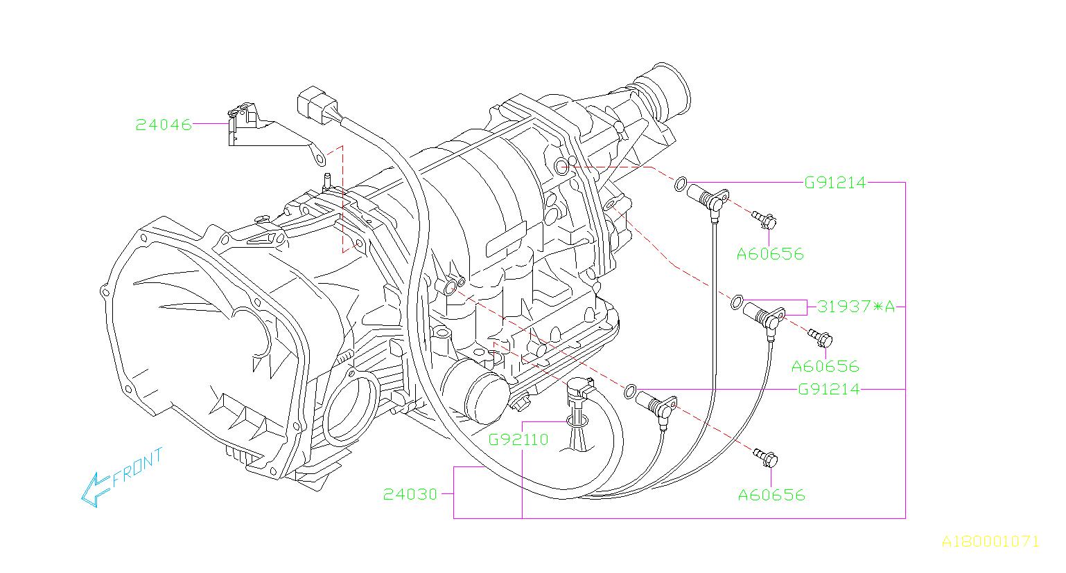 Subaru Outback Vehicle Speed Sensor Shift Control