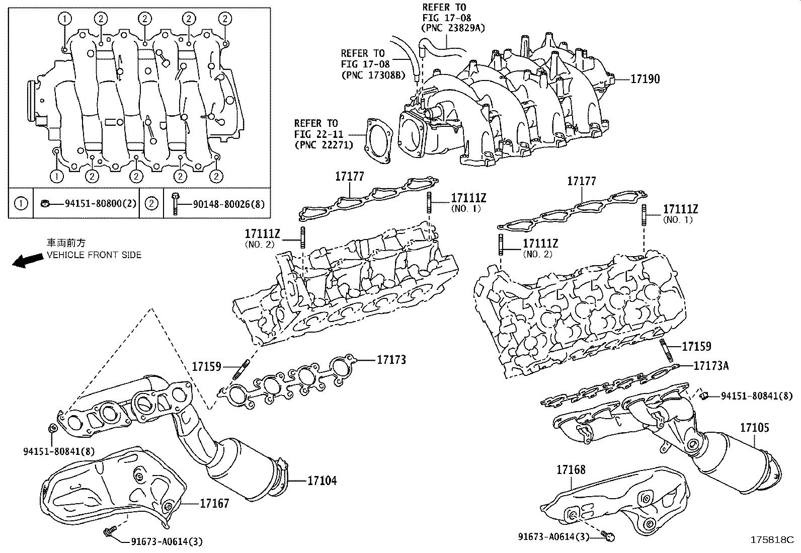 Lexus Is F Gasket Exhaust Manifold To Head Exhaust