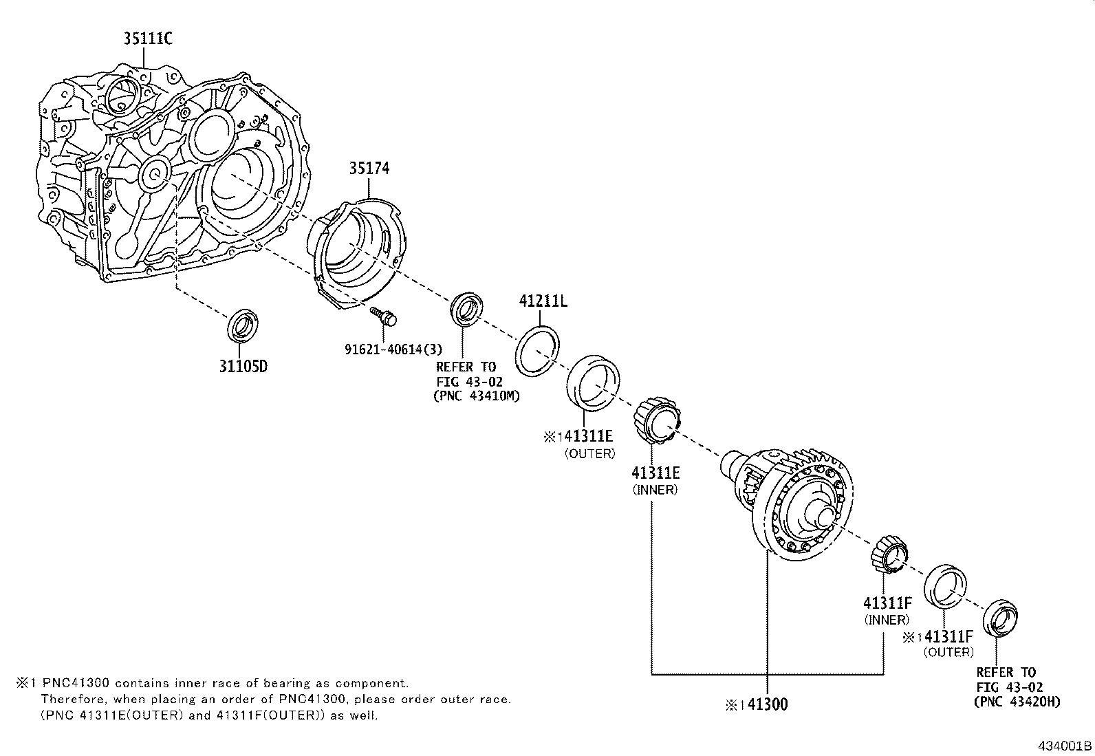 Lexus Es 350 Automatic Transmission Differential Carrier