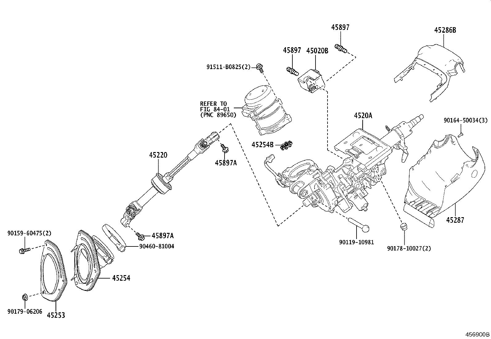 Lexus Rx 350 Column Sub Assembly Electric Power Steering