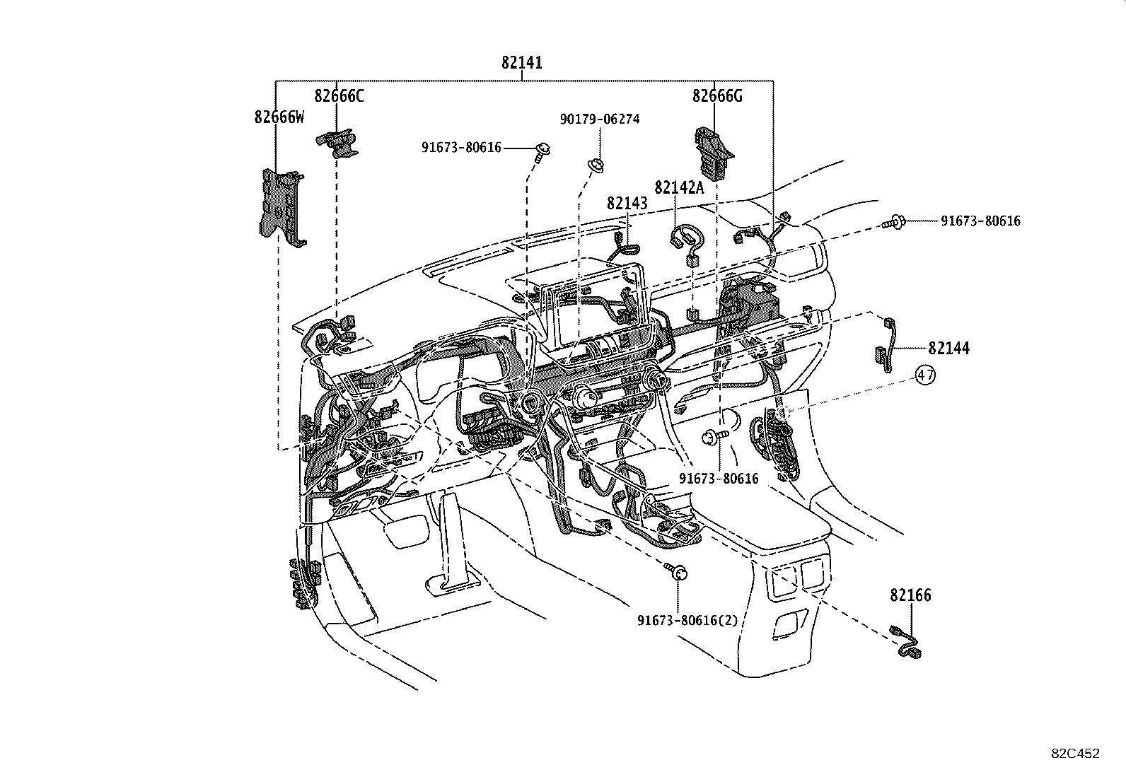 Toyota Rav4 Parking Aid System Wiring Harness Wire