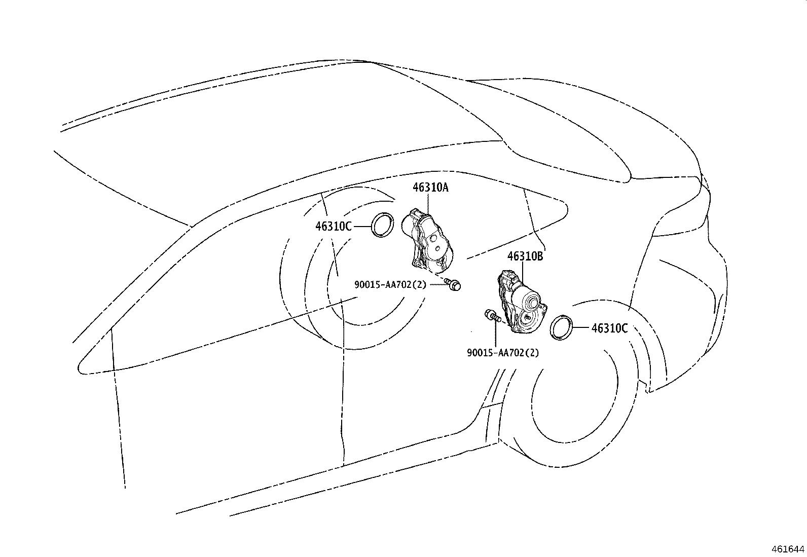 Toyota Corolla Stopper Parking Brake Cable End