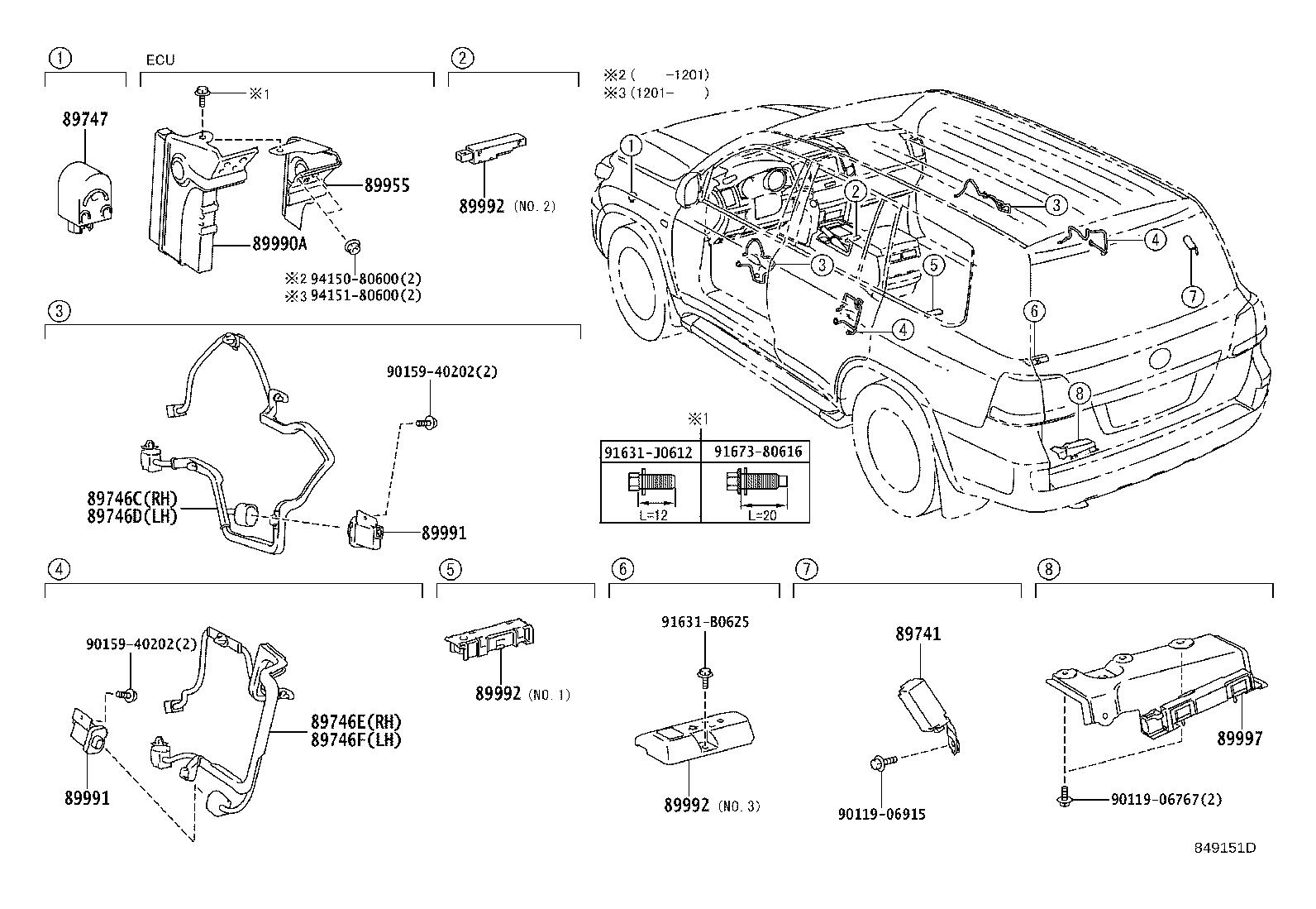 Toyota Land Cruiser Door Wiring Harness
