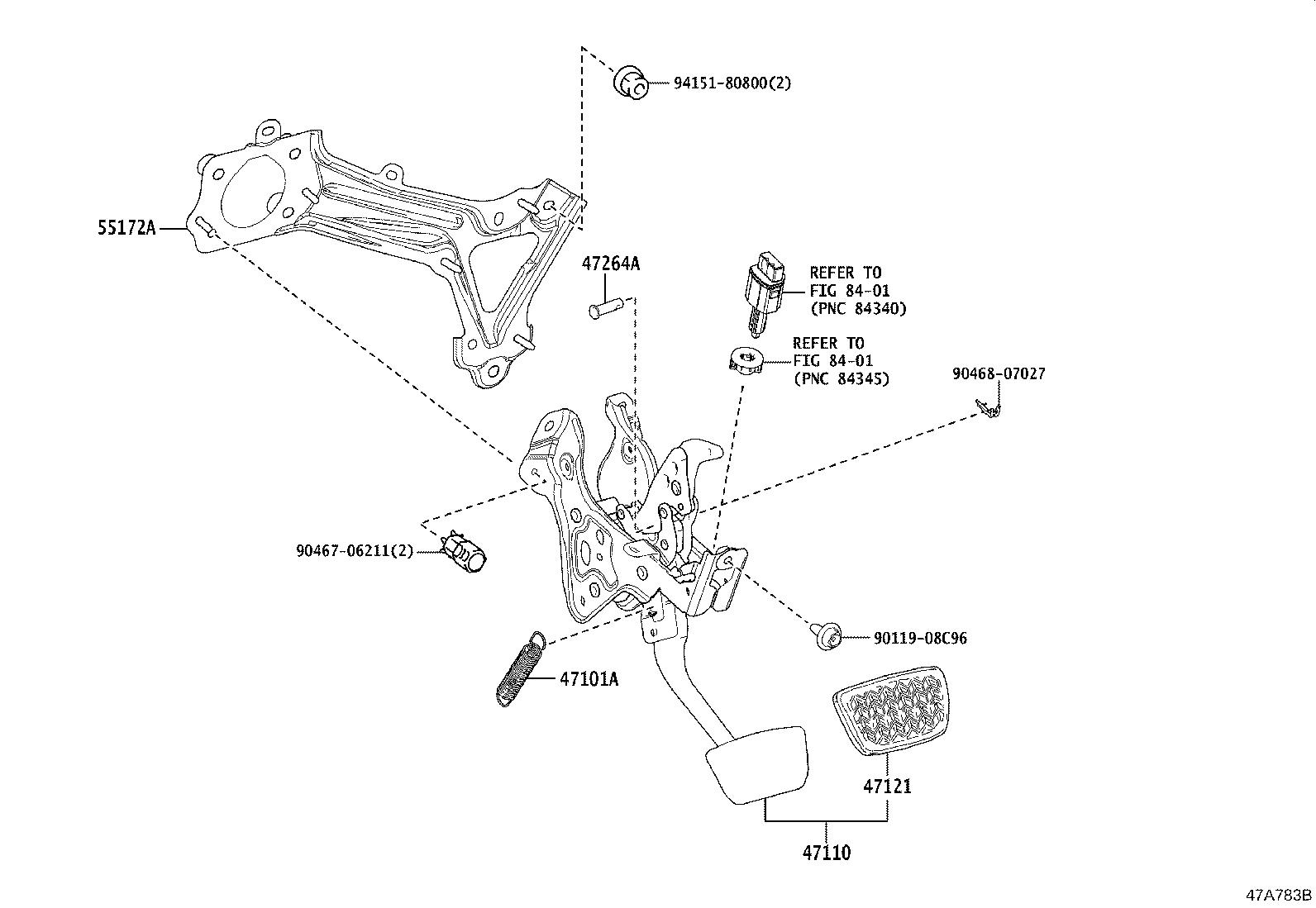 Toyota Camry Pin For Push Rod With Hole For Clutch