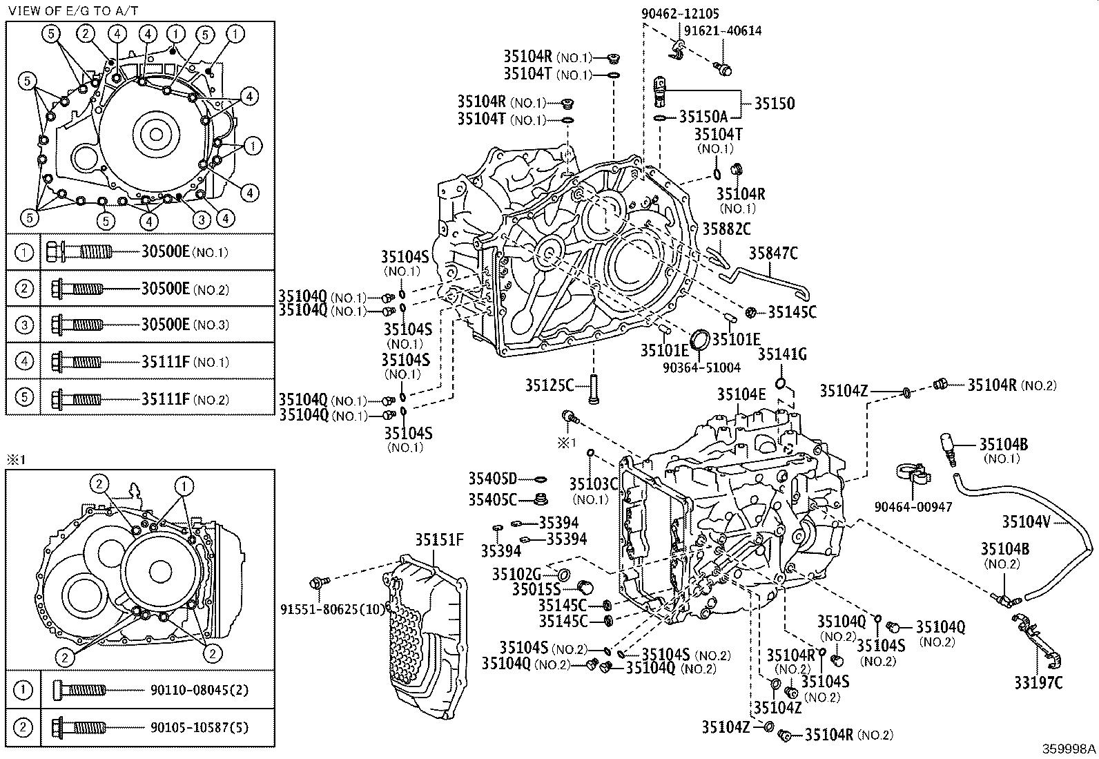 Toyota Camry Bolt For Transaxle Amp Engine Setting For