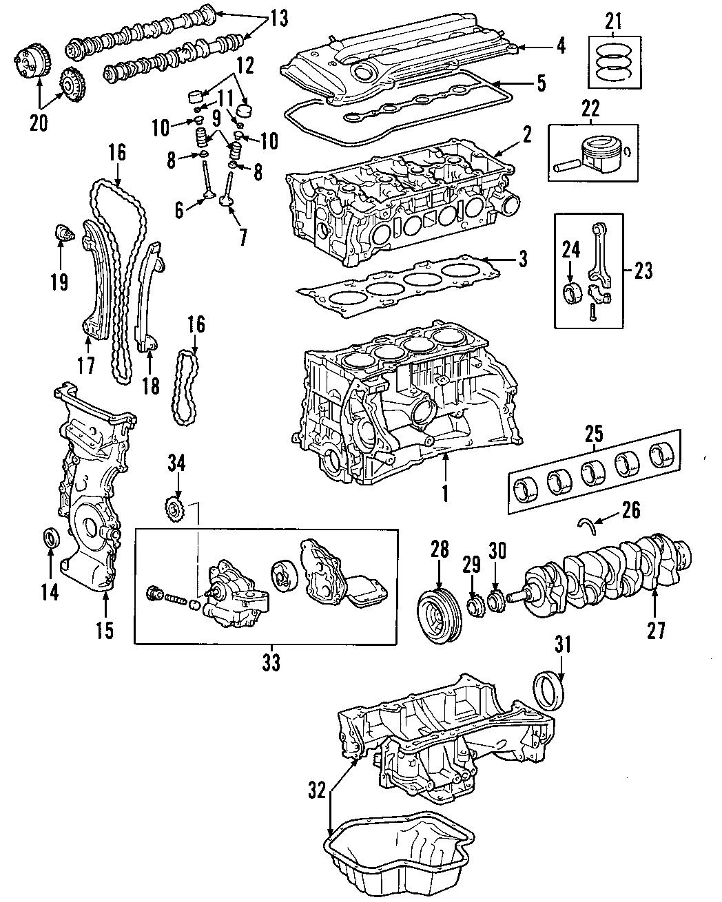 Toyota Rav4 Engine Timing Cover Front Rav4