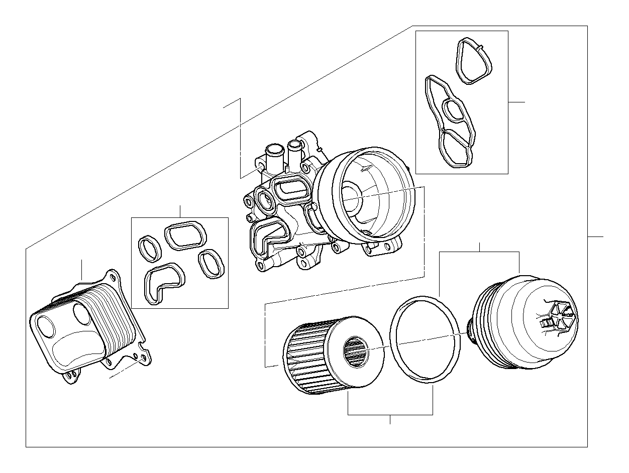 Mini Countryman Set Oil Filter Element Works