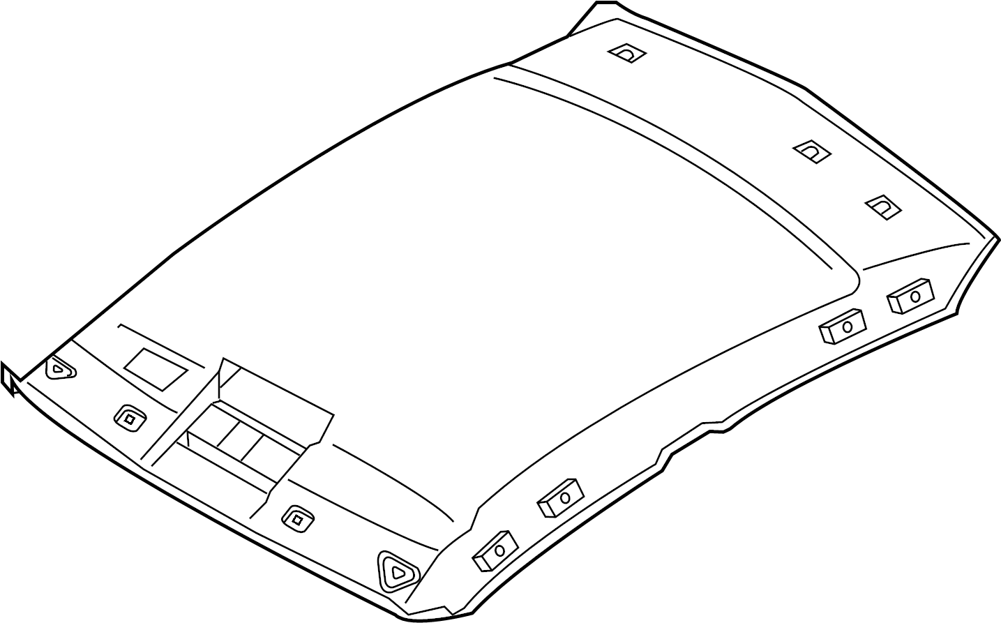 Infiniti G35 Headliner Roof Normal