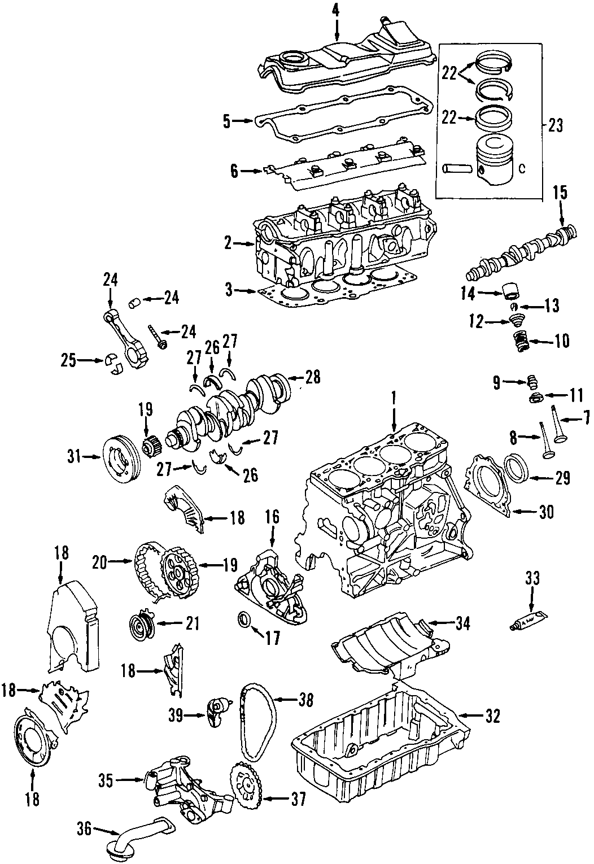Volkswagen Golf Gls 2 0l M T Engine Exhaust Valve