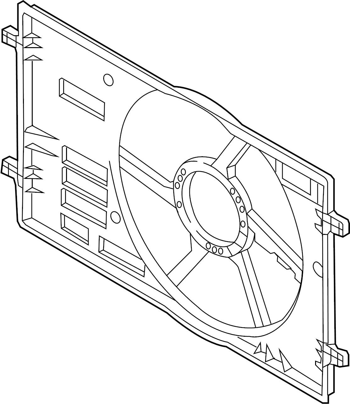 Volkswagen Jetta Engine Cooling Fan Shroud Liter Brose