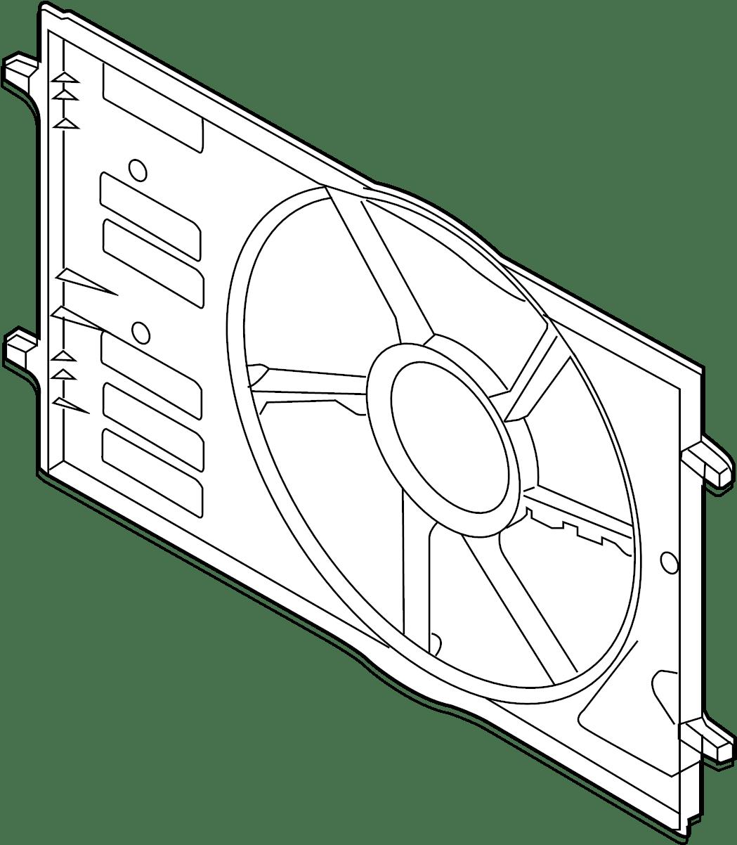 Volkswagen Jetta Gli Engine Cooling Fan Shroud Front