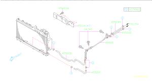 45520AG01A  Hoseatf Engine, cooling, cooler  Genuine Subaru Part