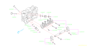 13333AA020  Rocker sub assemblyvalveexhaust Mechanism, engine, cooling  Genuine Subaru Part