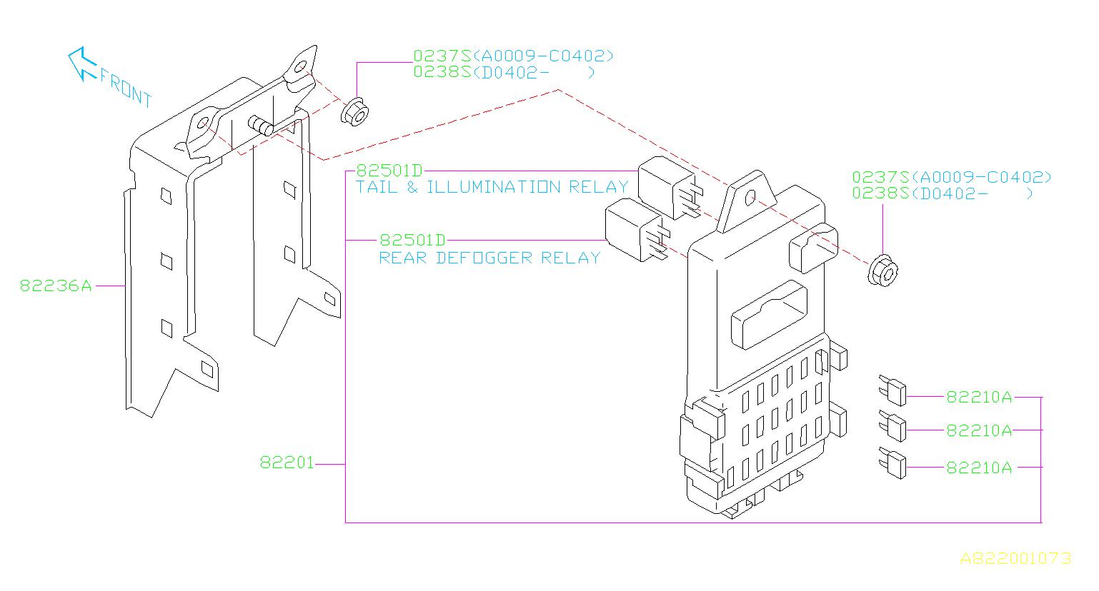 Relay. Box, Fuse, Main